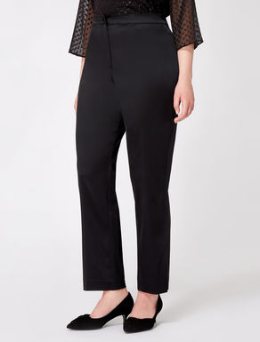 Pantaloni classici in satin stretch