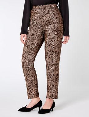 Pantalon jacquard lurex