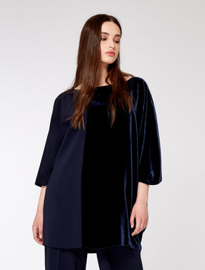 Velvet and triacetate tunic