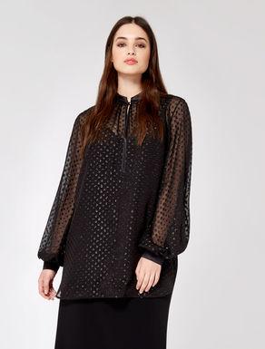 Fil coupé polka-dot blouse