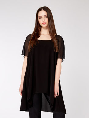 Triacetate and georgette tunic