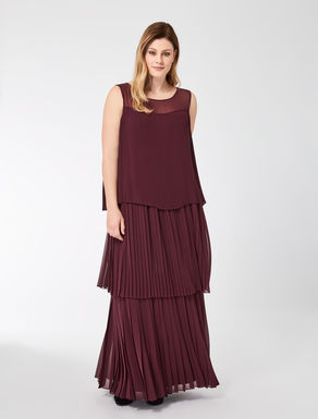 Long flounced georgette dress