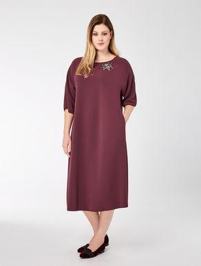 Triacetate dress with jewels