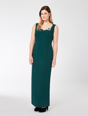 Long floaty crêpe dress