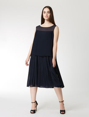 Pleated georgette dress