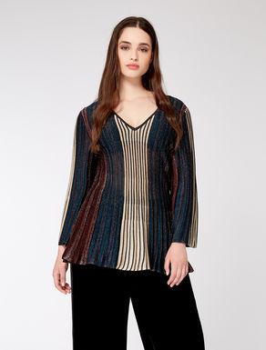 Lurex pleated sweater
