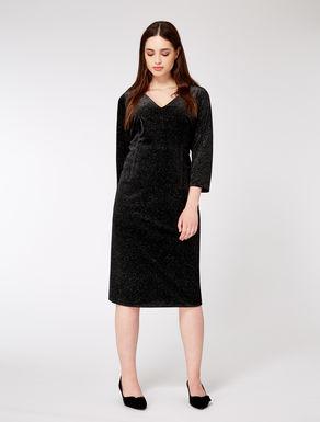 Lurex velvet sheath dress
