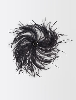 Brooch with feathers