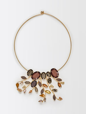 Choker with multicolour stones