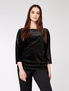 Stretch lurex velvet sweater
