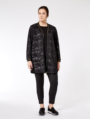 Lace-effect mesh jacket