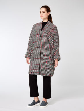Wool blend, check coat