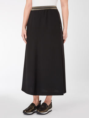 Envers satin crêpe midi skirt