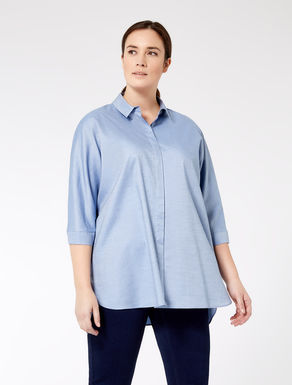 Oversized shirt in chambray