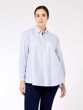 Camisa de popelina estampada