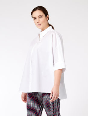 Oversize cotton poplin shirt