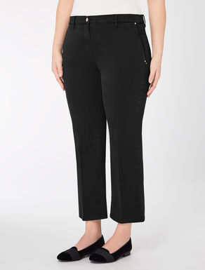 Cropped gabardine trousers