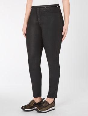 Pantalone leggings in raso spalmato