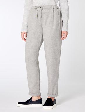 Jogging pants in wool blend
