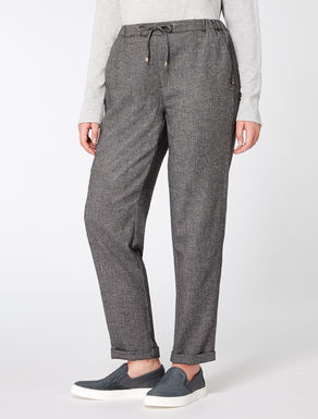 Jogging pants in wool blend