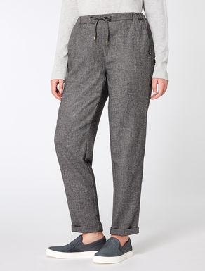Pantaloni jogging in misto lana