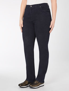 Slim-fit stretch denim trousers