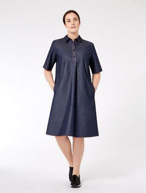 Denim-effect shirt dress