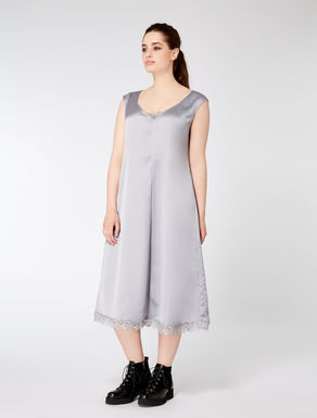 Long stretch satin dress