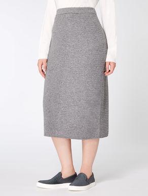 Cashmere blend skirt