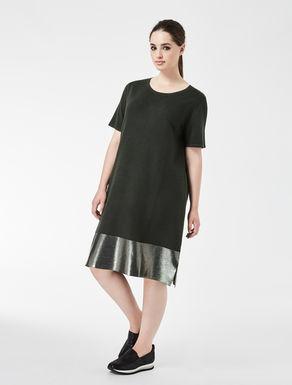 Viscose dress with coated hem