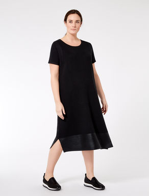 Viscose dress with coated hem