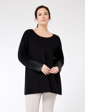 Viscose sweater with coating