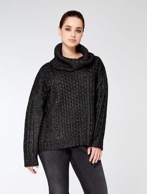Panel effect yarn jumper