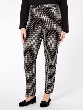 Slim-fit jersey trousers