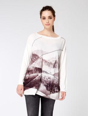 Jersey T-shirt with velvet