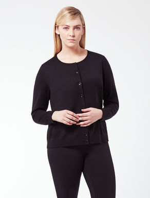 EASY Knitted cardigan in pure wool