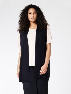 EASY TRAVEL Long wool gilet