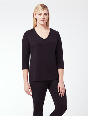 EASY V-neck T-shirt in stretch jersey