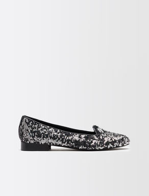 Sequin slippers