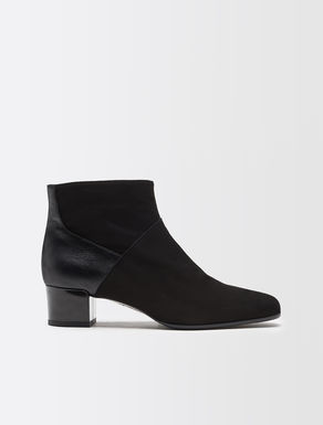 Suede, leather and fabric boot