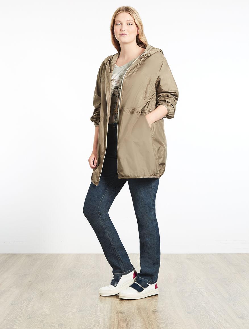 Lightweight canvas raincoat