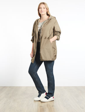 Lightweight canvas raincoat