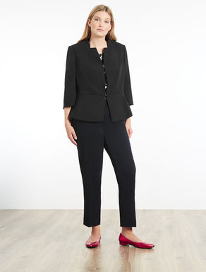 Stretch jacket in floaty fabric