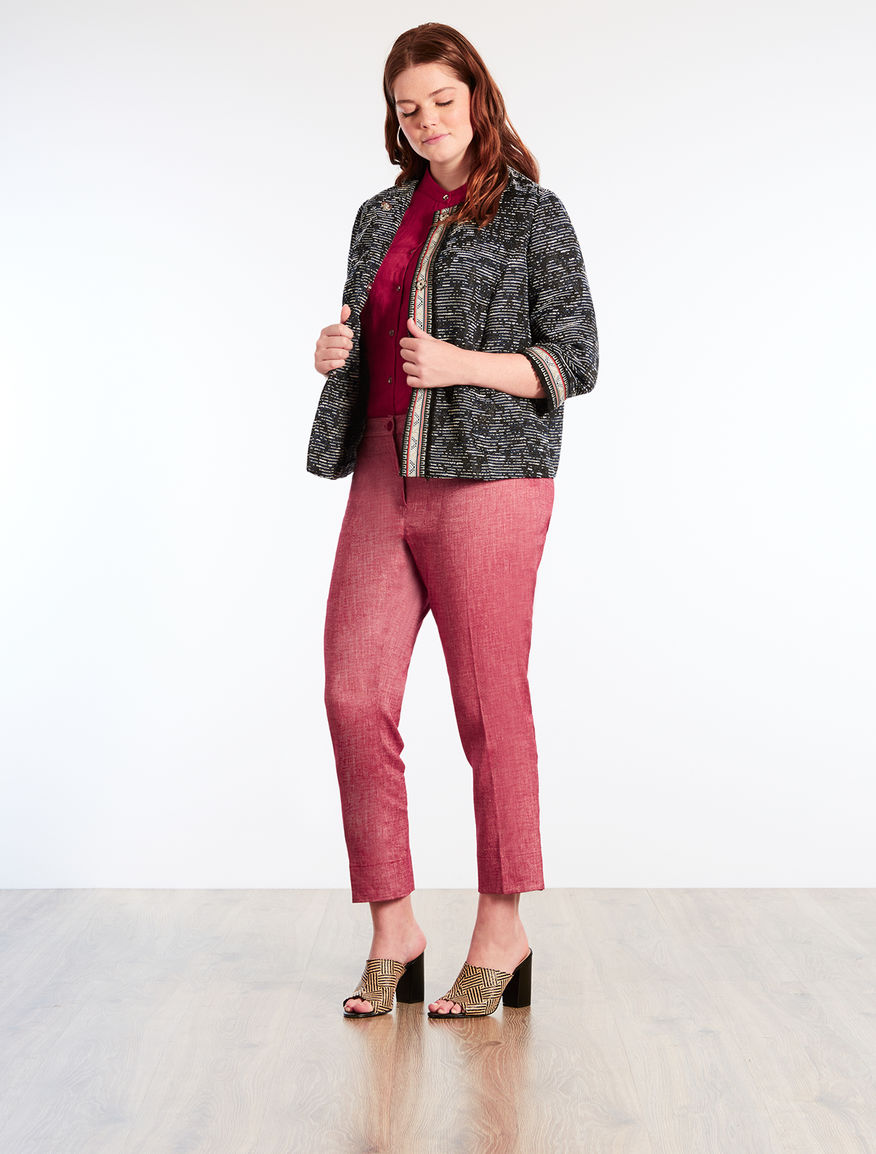 Structured fabric jacket
