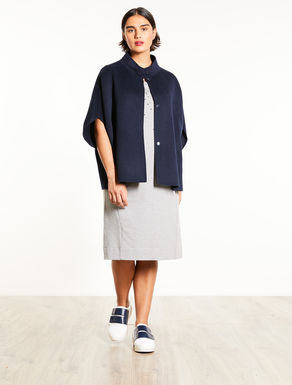 Double wool blend fabric cape