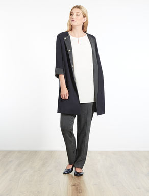 Milano-stitch jersey duster coat