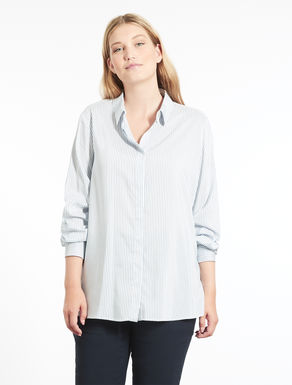 Floaty striped viscose shirt