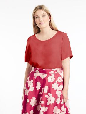Silk blend tunic