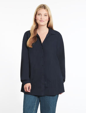 Poplin shirt with embroidery