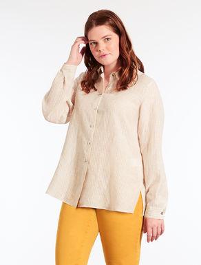 Camicia in lino leggero a righe